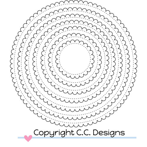 CC Designs - Cutter Dies - Scalloped Circles