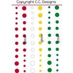 CC Designs - Enamel Dots - Merry Christmas