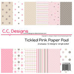 CC Designs - 6 x 6 Paper Pad - Tickled Pink