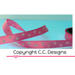 CC Designs - Ribbon - Pink Polka Dot