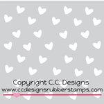 CC Designs - 6 x 6 Stencil - Heart Drop