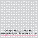 CC Designs - 6 x 6 Stencil - Mini Hearts