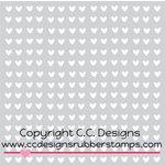 CC Designs - 6 x 6 Stencil - Mini Hearts