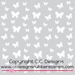 CC Designs - 6 x 6 Stencil - Butterflies