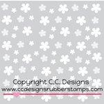 CC Designs - 6 x 6 Stencil - Flowing Flowers
