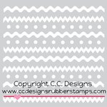 CC Designs - 6 x 6 Stencil - Spring Stripes