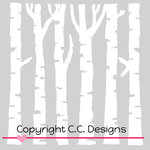 CC Designs - 6 x 6 Stencil - Birch Trees
