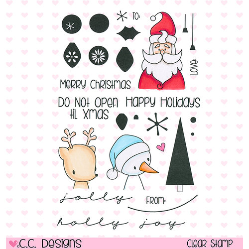 CC Designs - Clear Acrylic Stamps - Christmas Tags