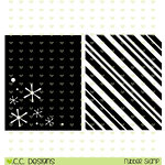 CC Designs - Christmas - Cling Mounted Rubber Stamps - Holiday Backgrounds