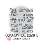 CC Designs - Clear Acrylic Stamps - Snowman Sentiments
