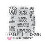 CC Designs - Clear Acrylic Stamps - XOXO Sentiments