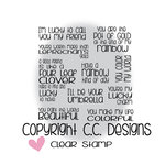 CC Designs - Clear Acrylic Stamps - Lucky Rainbow