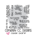 CC Designs - Clear Acrylic Stamps - Girly Sentiments