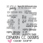 CC Designs - Clear Acrylic Stamps - Happy Birthday Sentiments
