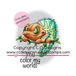 CC Designs - Doodle Dragon Collection - Cling Mounted Rubber Stamps - Color My World