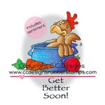 CC Designs - Doodle Dragon Collection - Cling Mounted Rubber Stamps - Got Soup