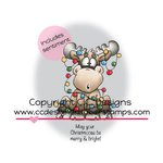 CC Designs - Doodle Dragon Collection - Christmas - Cling Mounted Rubber Stamps - Tangled