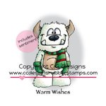 CC Designs - Doodle Dragon Collection - Christmas - Cling Mounted Rubber Stamps - Warm Wishes