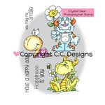 CC Designs - Doodle Dragon Collection - Clear Acrylic Stamps - Garden Antics