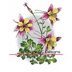 CC Designs - DoveArt Studio Collection - Cling Mounted Rubber Stamps - Columbine