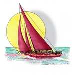 CC Designs - DoveArt Studio Collection - Cling Mounted Rubber Stamps - Sailboat