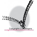 CC Designs - DoveArt Studio Collection - Cling Mounted Rubber Stamps - Zipper Card