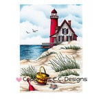 CC Designs - DoveArt Studio Collection - Cling Mounted Rubber Stamps - Beach Scene
