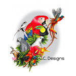 CC Designs - DoveArt Studio Collection - Cling Mounted Rubber Stamps - Bird Aviary