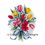 CC Designs - DoveArt Studio Collection - Cling Mounted Rubber Stamps - Bouquet