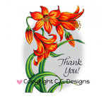 CC Designs - DoveArt Studio Collection - Cling Mounted Rubber Stamps - Flower Lily