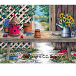 CC Designs - DoveArt Studio Collection - Cling Mounted Rubber Stamps - Garden Bench