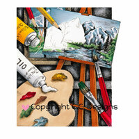 CC Designs - DoveArt Studio Collection - Cling Mounted Rubber Stamps - Painter Palette
