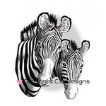CC Designs - DoveArt Studio Collection - Cling Mounted Rubber Stamps - Zebra