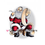 CC Designs - DoveArt Studio Collection - Christmas - Cling Mounted Rubber Stamps - Nice Or Naughty