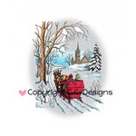 CC Designs - DoveArt Studio Collection - Christmas - Cling Mounted Rubber Stamps - Sleigh Ride