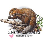 CC Designs - DoveArt Studio Collection - Cling Mounted Rubber Stamps - Beaver