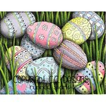 CC Designs - DoveArt Studio Collection - Cling Mounted Rubber Stamps - Egg Hunt Background