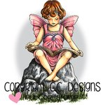 CC Designs - DoveArt Studio Collection - Cling Mounted Rubber Stamps - Fairy Ella