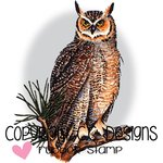CC Designs - DoveArt Studio Collection - Cling Mounted Rubber Stamps - Great Horned Owl
