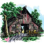 CC Designs - DoveArt Studio Collection - Cling Mounted Rubber Stamps - Horse Barn