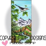 CC Designs - DoveArt Studio Collection - Cling Mounted Rubber Stamps - Mountain Song