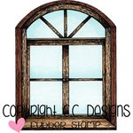 CC Designs - DoveArt Studio Collection - Cling Mounted Rubber Stamps - Through The Window