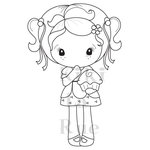 CC Designs - Cling Mounted Rubber Stamps - Cupcake Kiki La Rue