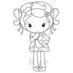 CC Designs - Cling Mounted Rubber Stamps - Cupcake Kiki La Rue