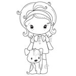 CC Designs - Cling Mounted Rubber Stamps - Puppy Kiki La Rue