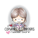 CC Designs - Little Pixie Collection - Cling Mounted Rubber Stamps - Winged Heart