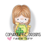 CC Designs - Little Pixie Collection - Cling Mounted Rubber Stamps - Lucky Clover