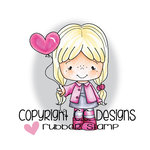 CC Designs - Little Pixie Collection - Cling Mounted Rubber Stamps - Balloon Heart