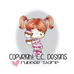 CC Designs - Little Pixie Collection - Cling Mounted Rubber Stamps - Valentine Cupcakes
