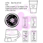 CC Designs - Cling Mounted Rubber Stamps - Coffee and Cocoa Logos